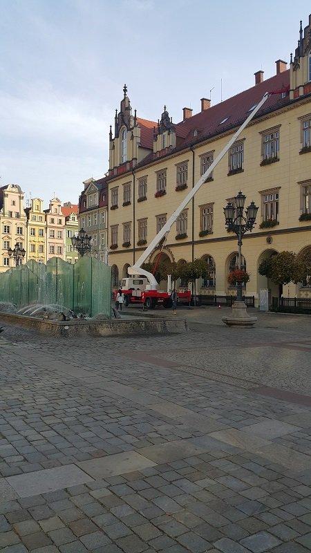 Prace na Rynku we Wrocławiu 2